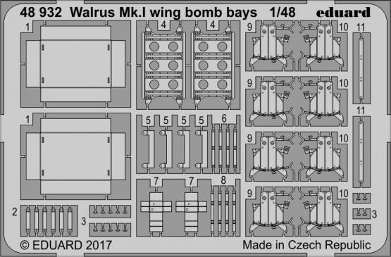 Walrus Mk.I wing bomb bays 1/48