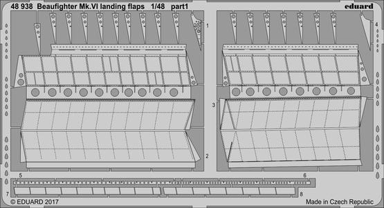 Beaufighter Mk.VI landing flaps 1/48  - 1