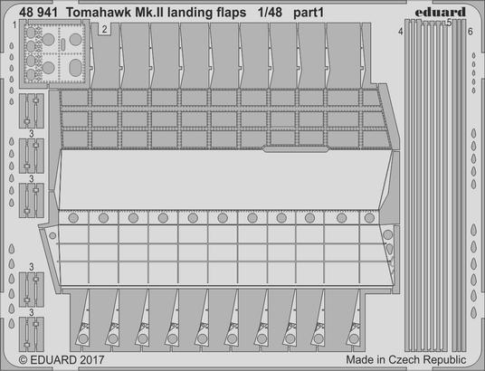 Tomahawk Mk.II landing flaps 1/48  - 1