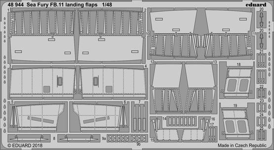 Sea Fury FB.11 landing flaps 1/48