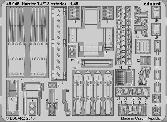 Harrier T.4/T.8 exterior 1/48