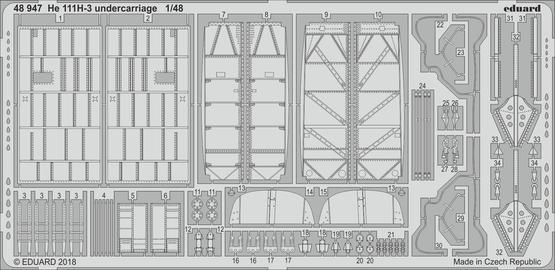 He 111H-3 着陸装置 1/48