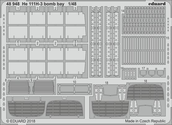 He 111H-3 бомболюк 1/48