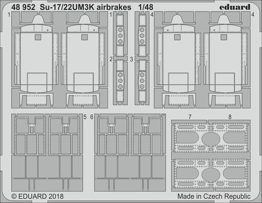 Su-17/22UM3K airbrakes 1/48