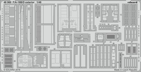 F/A-18B/D exterior 1/48