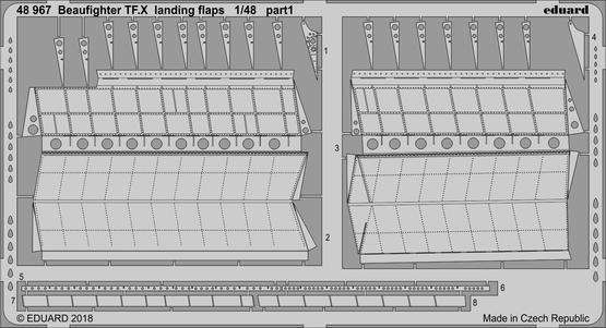 Beaufighter TF.X landing flaps 1/48  - 1