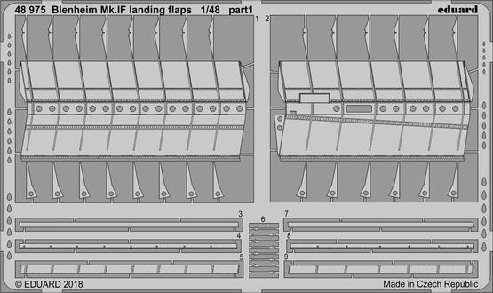 Blenheim Mk.IF landing flaps 1/48  - 1