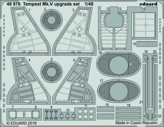 Tempest Mk.V doplňková sada 1/48