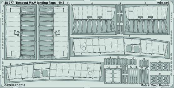 Tempest Mk.V landing flaps 1/48