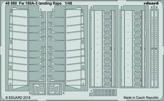 Fw 190A-3 landing flaps 1/48