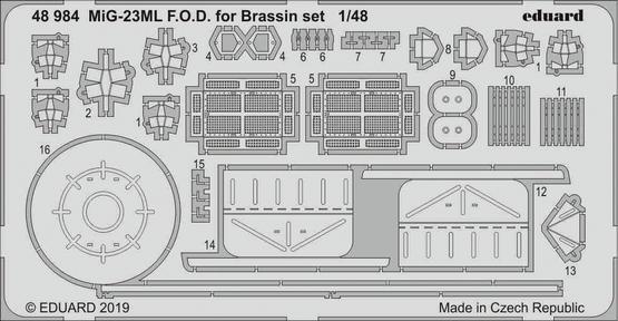 MiG-23ML čechlo pro Brassin sadu 1/48