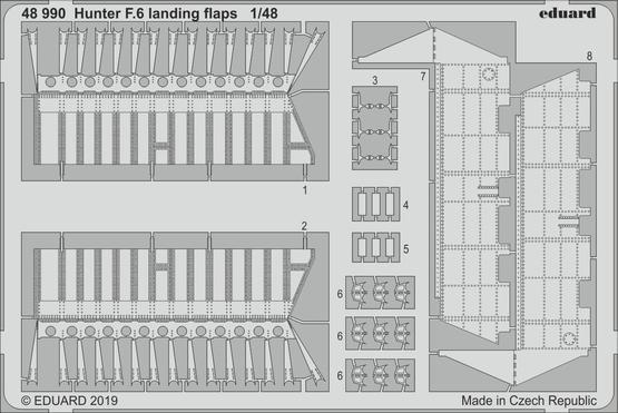 Hunter F.6 landing flaps 1/48