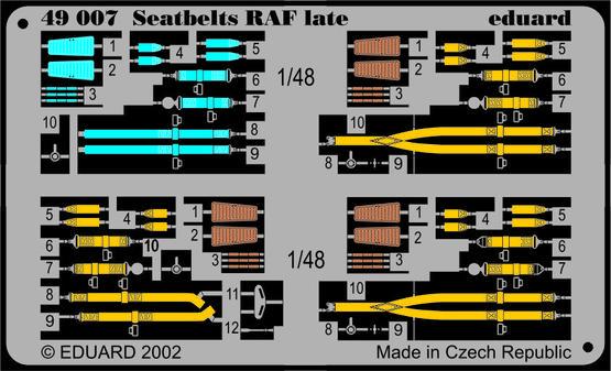 Seatbelts RAF late 1/48