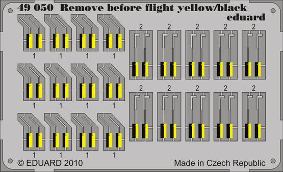 Remove Before Flight - yellow/black 1/48
