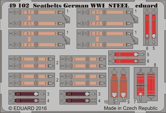 Upínací pásy Německo 1.sv.v. OCEL 1/48