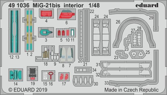 MiG-21bis interior 1/48