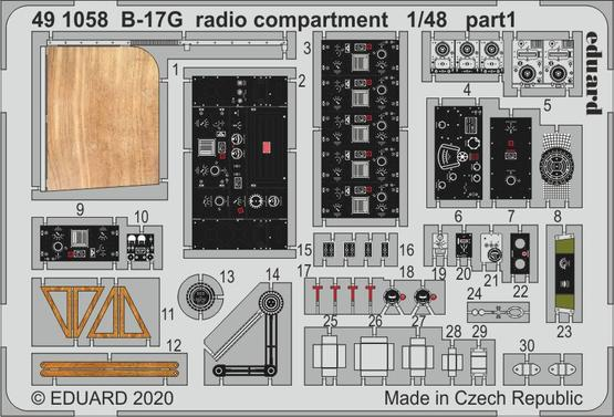 B-17G 無線室 1/48  - 1
