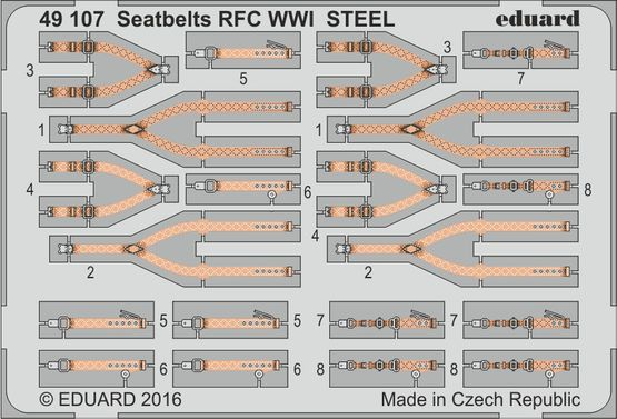Seatbelts RFC WWI STEEL 1/48