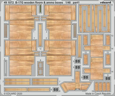 B-17G wooden floors & ammo boxes 1/48  - 1