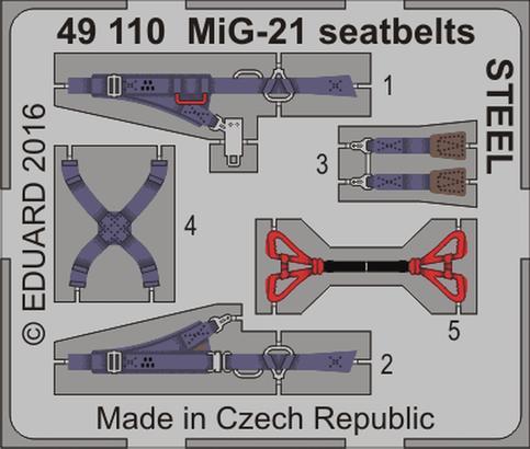 MiG-21 upínací pásy OCEL 1/48