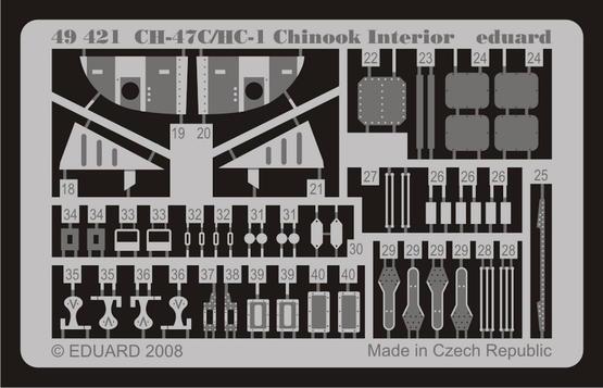 CH-47C/HC-1 Chinook interior S.A. 1/48