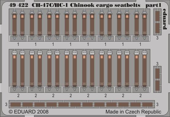 CH-47C/HC-1 Chinook cargo seatbelts 1/48  - 1