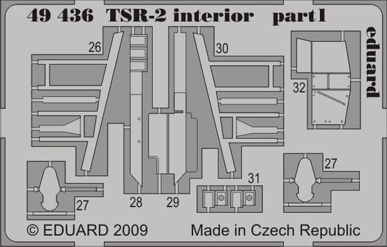 TSR-2 interior S.A. 1/48  - 1