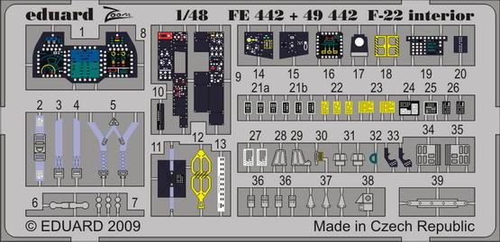 F-22 interior S.A. 1/48  - 1