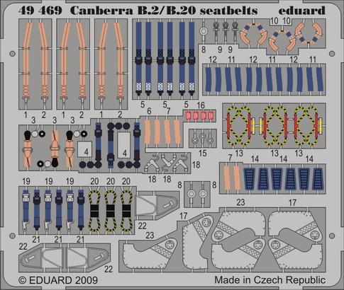 Canberra B2/B20 seatbelts 1/48