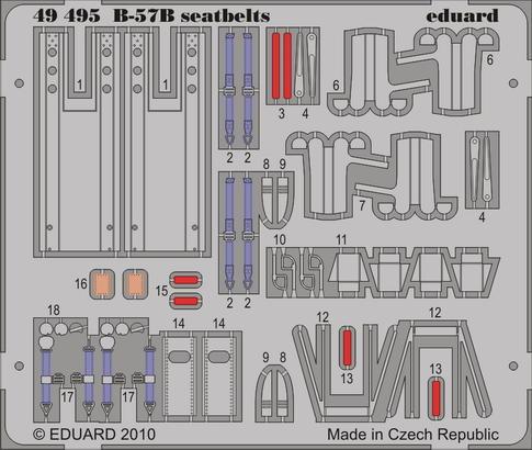B-57B seatbelts 1/48