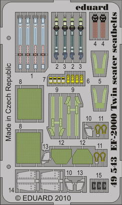 EF-2000 Two seater seatbelts 1/48