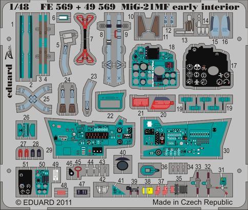 MiG-21MF interior 1/48  - 1