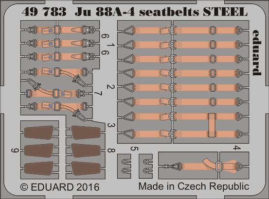 Ju 88A-4 seatbelts STEEL 1/48