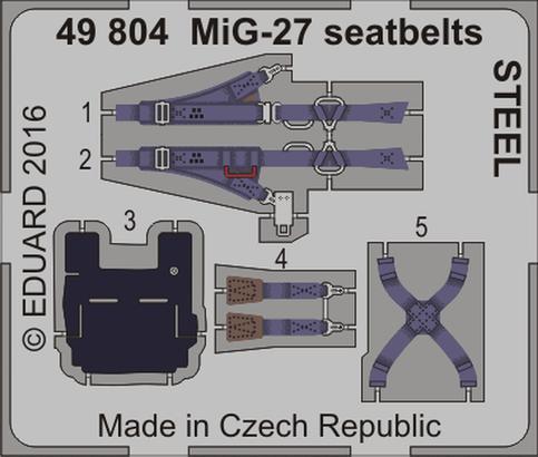 MiG-27 seatbelts STEEL 1/48