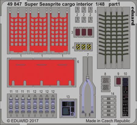 Super Seasprite интерьер грузового отсека 1/48  - 1