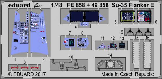 Su-35 Flanker E interior 1/48 1/48  - 1