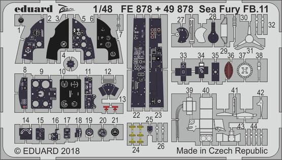 Sea Fury FB.11 interior 1/48  - 1