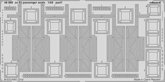 Ju 52 пассажирские кресла 1/48  - 1