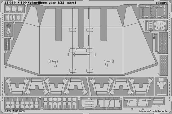 S-100 Schnellboot výzbroj 1/35  - 1