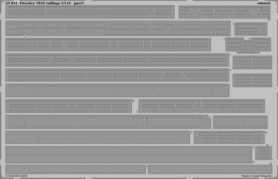 Fletcher 1942 railings 1/144  - 1