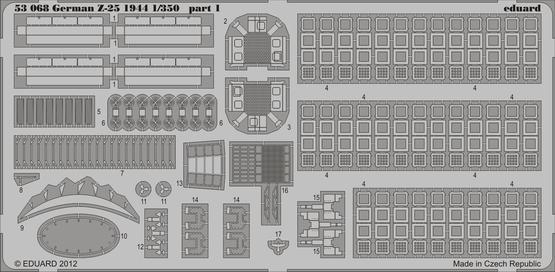 German Z-25 1944 1/350  - 1