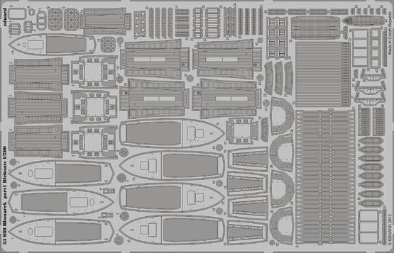 Bismarck část 1 - záchranné čluny 1/200