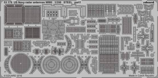 US ネイビー  レーダー用アンテナ WWII  スチール 1/350  - 1