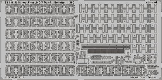 USS Iwo Jima LHD-7 část 5. záchranné rafty 1/350
