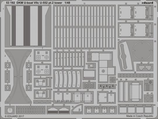 DKM U-boat VIIc U-552 pt.2 tower 1/48