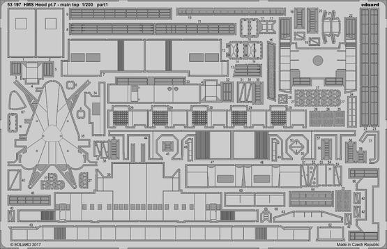 HMS Hood pt. 7 main top 1/200  - 1