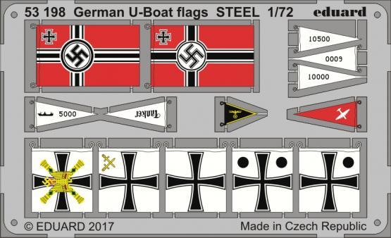 German U-boat flags STEEL 1/72