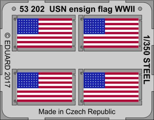 USN národní vlajka 2.sv.v. OCEL 1/350