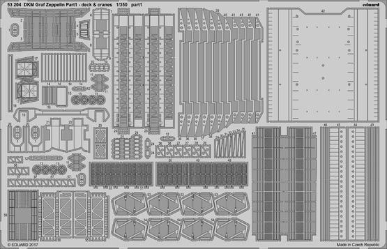 DKM Graf Zeppelin pt.1 deck & jeřáby 1/350  - 1