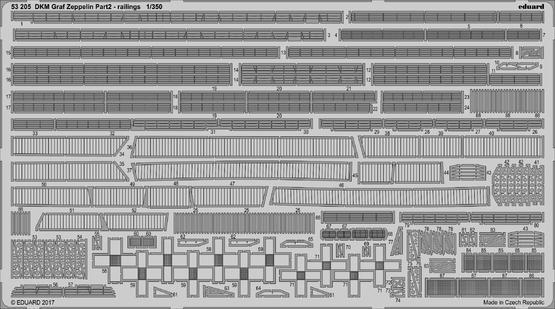 DKM Graf Zeppelin 2 часть - поручни 1/350